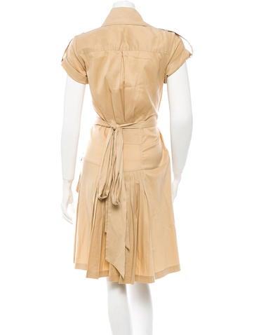 Military Wrap Dress