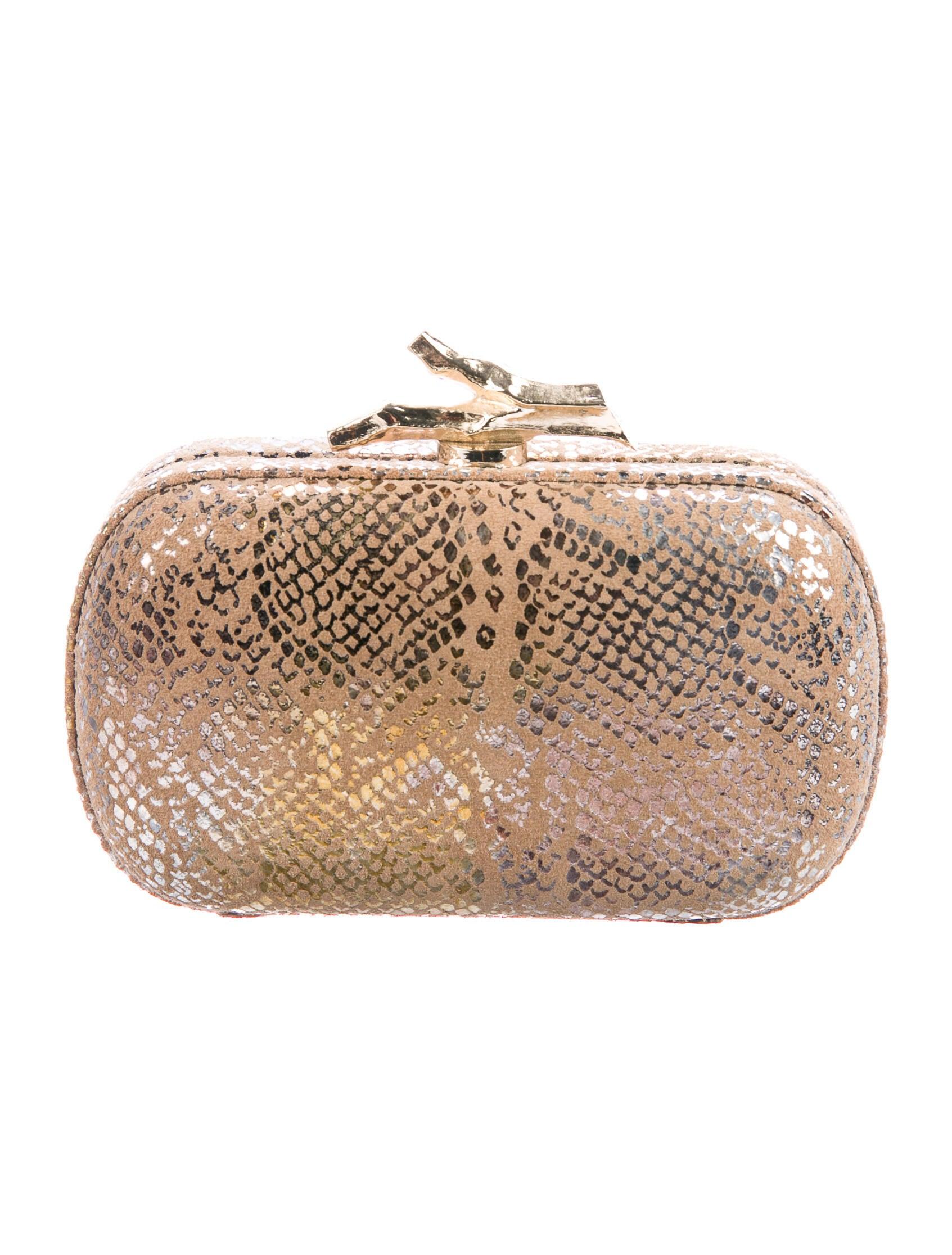 Diane von Furstenberg Metallic Lytton Clutch - Handbags -           WDI280038   The RealReal