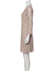 Diane von Furstenberg Lace Pattern Mini Dress