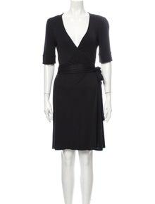 Diane von Furstenberg V-Neck Mini Dress