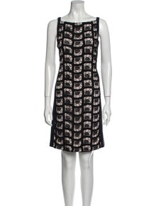 Diane von Furstenberg Lace Pattern Mini Dress