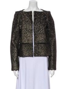 Diane von Furstenberg JOELE EMBELLISHED Wool Evening Jacket
