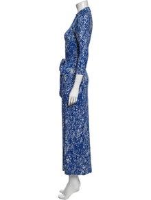 Diane von Furstenberg Animal Print Long Dress
