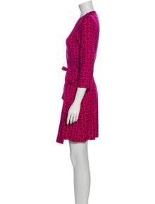 Diane von Furstenberg Floral Print Mini Dress w/ Tags