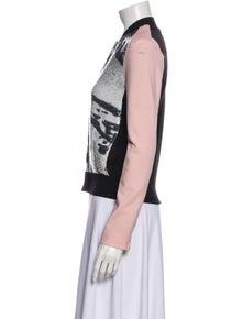 Diane von Furstenberg Printed Biker Jacket