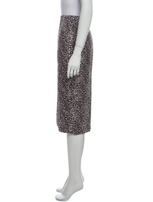Diane von Furstenberg Printed Knee-Length Skirt