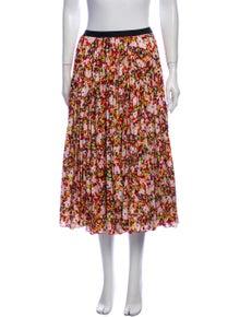 Diane von Furstenberg Floral Print Midi Length Skirt