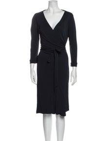 Diane von Furstenberg V-Neck Midi Length Dress