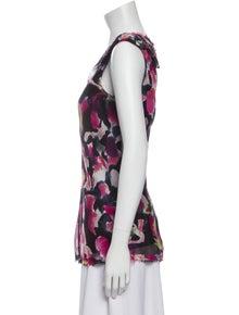 Diane von Furstenberg Silk Floral Print Top
