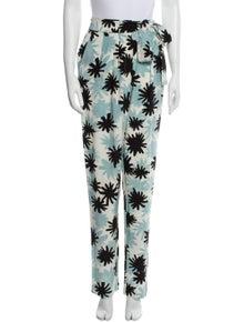 Diane von Furstenberg Silk Straight Leg Pants