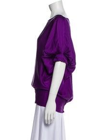 Diane von Furstenberg Silk Scoop Neck Blouse