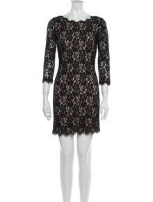 Diane von Furstenberg Bateau Neckline Mini Dress