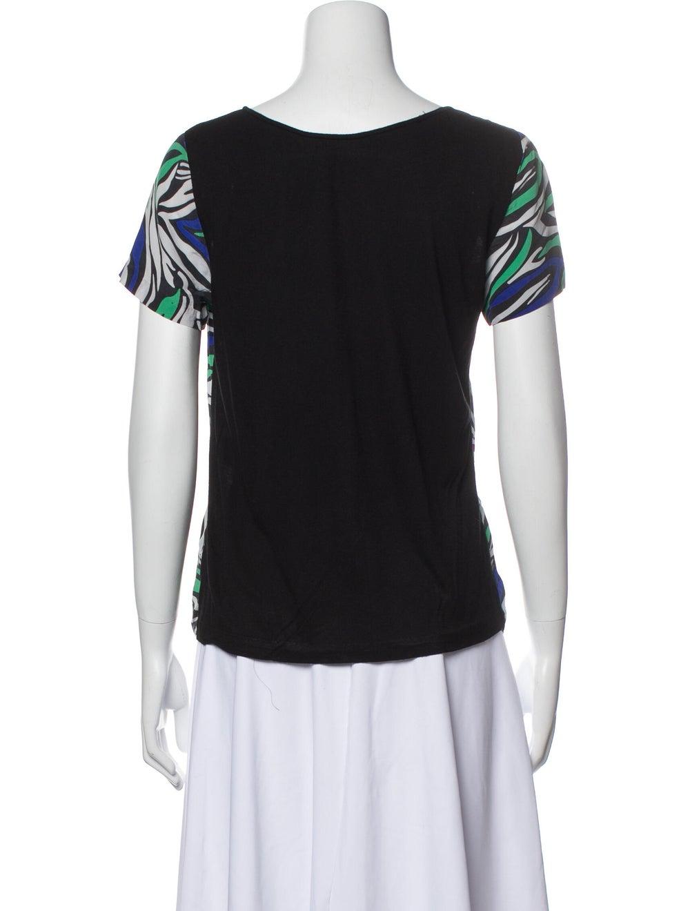 Diane von Furstenberg Ora Silk T-Shirt Green - image 3