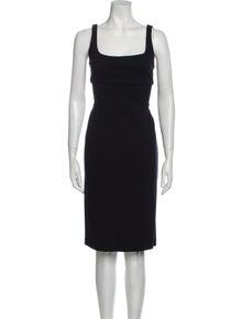 Diane von Furstenberg Square Neckline Knee-Length Dress