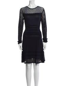 Diane von Furstenberg Crew Neck Knee-Length Dress