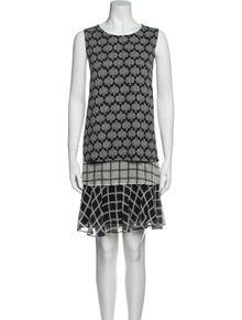 Diane von Furstenberg Printed Knee-Length Dress w/ Tags
