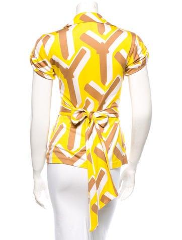 Silk Wrap Top