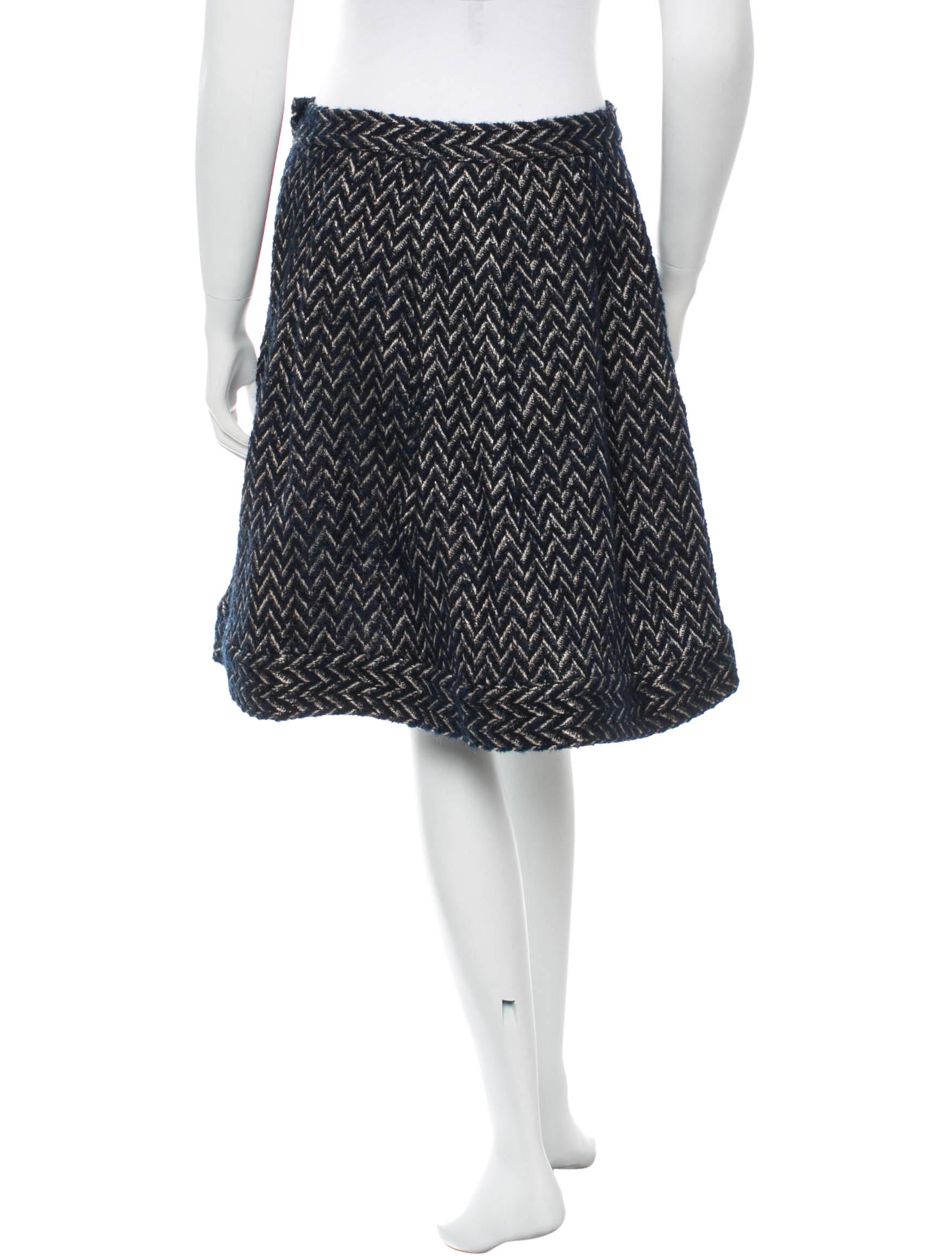 diane furstenberg pattern a line skirt clothing