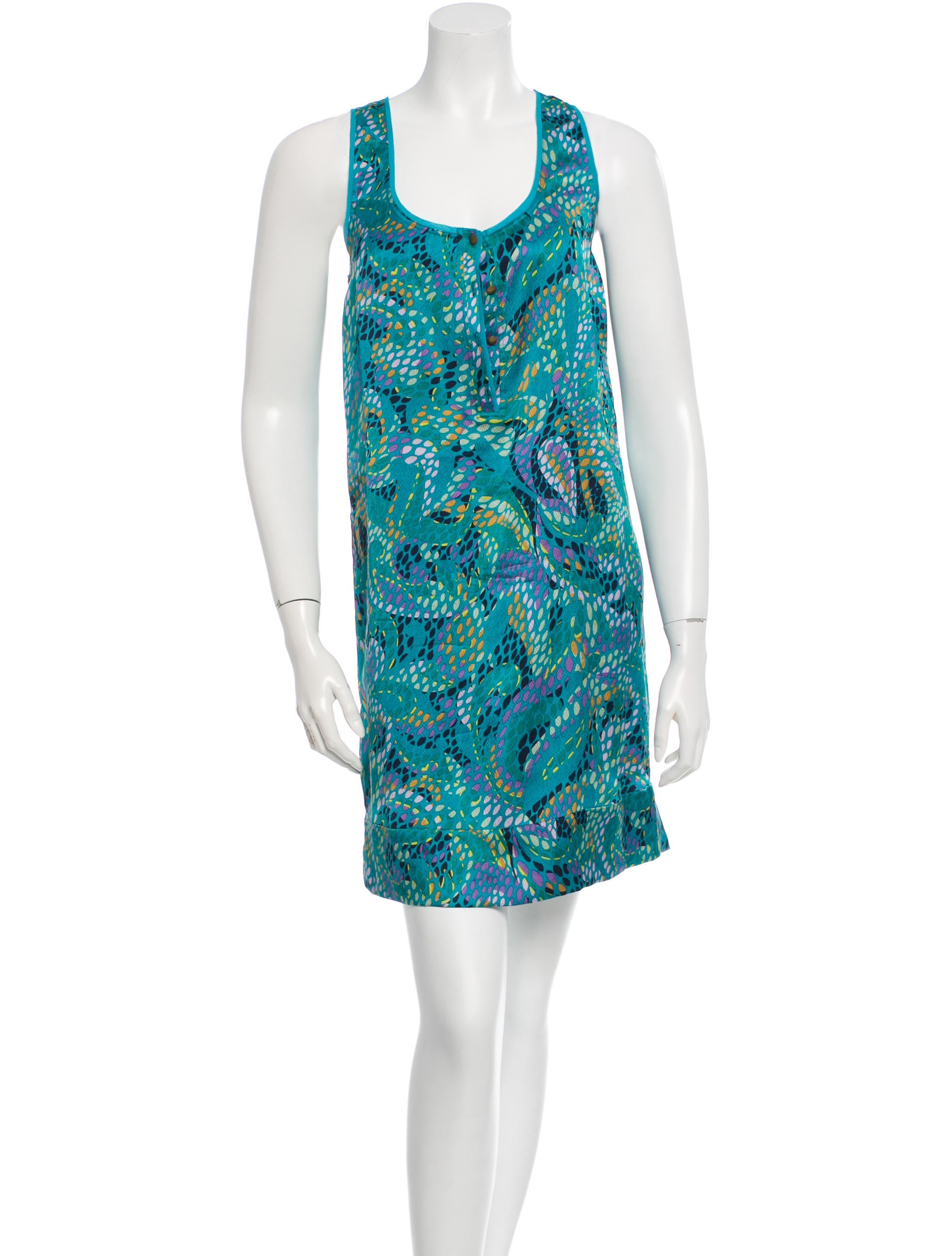 Diane Von Furstenberg Printed Silk Dress Clothing