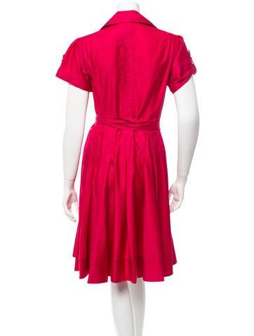 diane furstenberg belted a line dress clothing