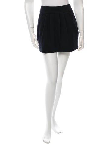 Diane von Furstenberg Pleated Mini Skirt