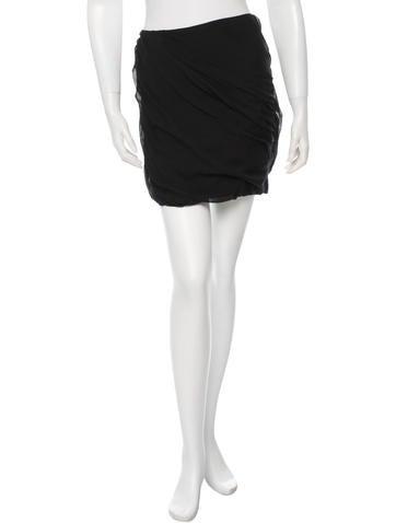 Diane von Furstenberg Silk Draped Skirt