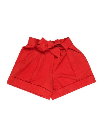Silk-Blend Mini Shorts