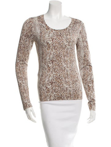 Diane von Furstenberg Metallic Patterned Top None