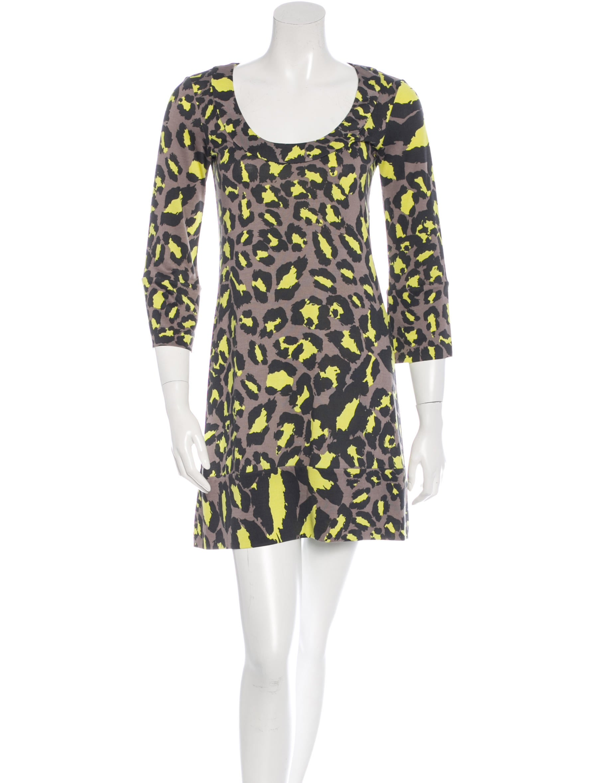 Diane von furstenberg silk leopard print dress clothing for Diane von furstenberg clothing