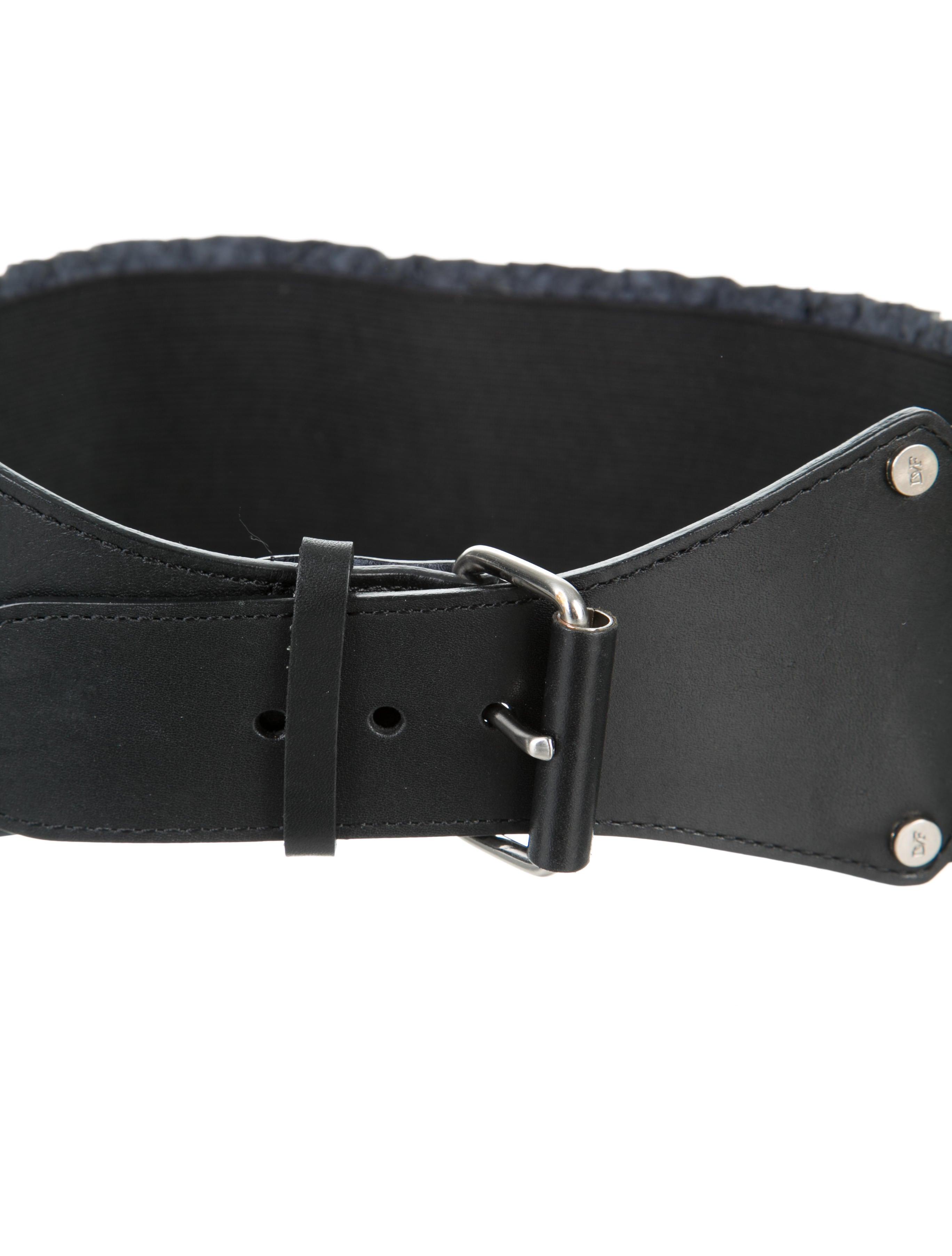 diane furstenberg embossed leather waist belt