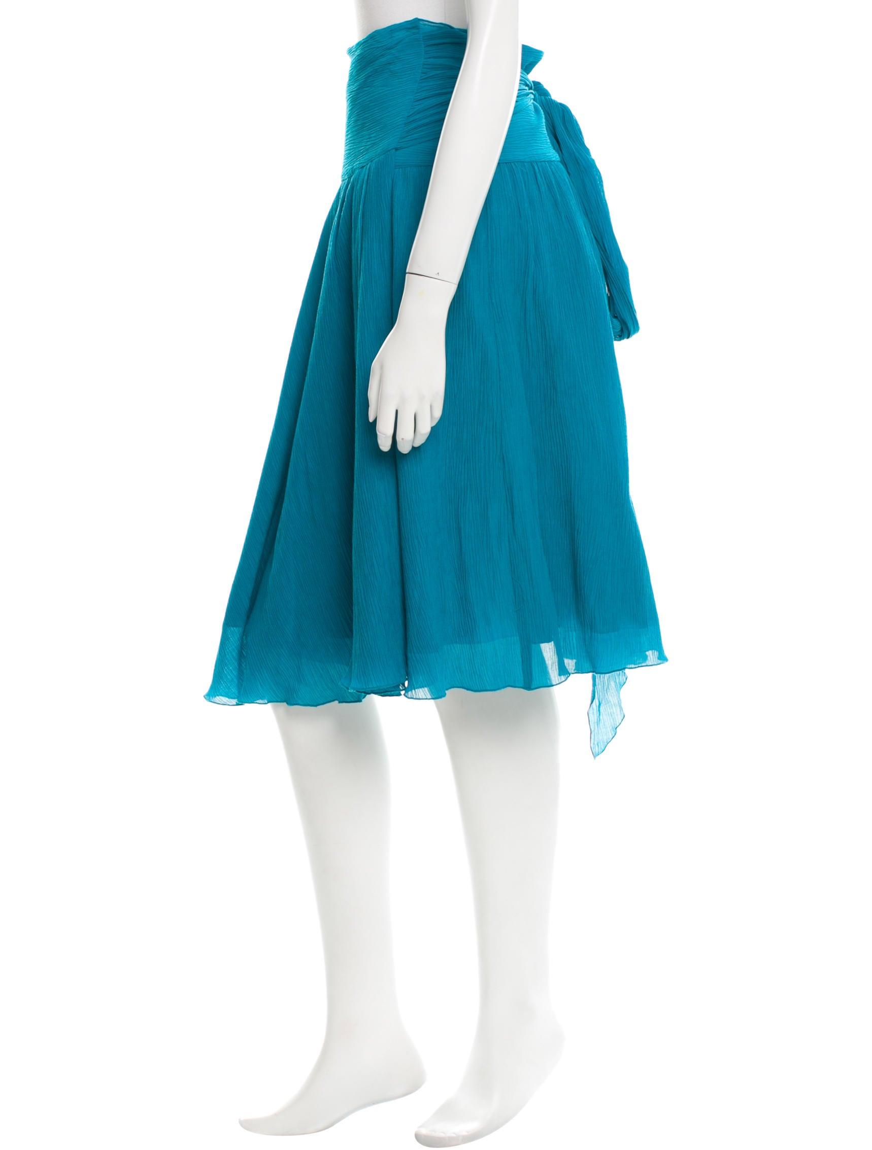 diane furstenberg flared knee length wrap skirt