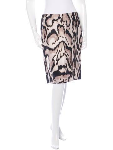 Diane von Furstenberg Mae Mikado Wool Silk Skirt