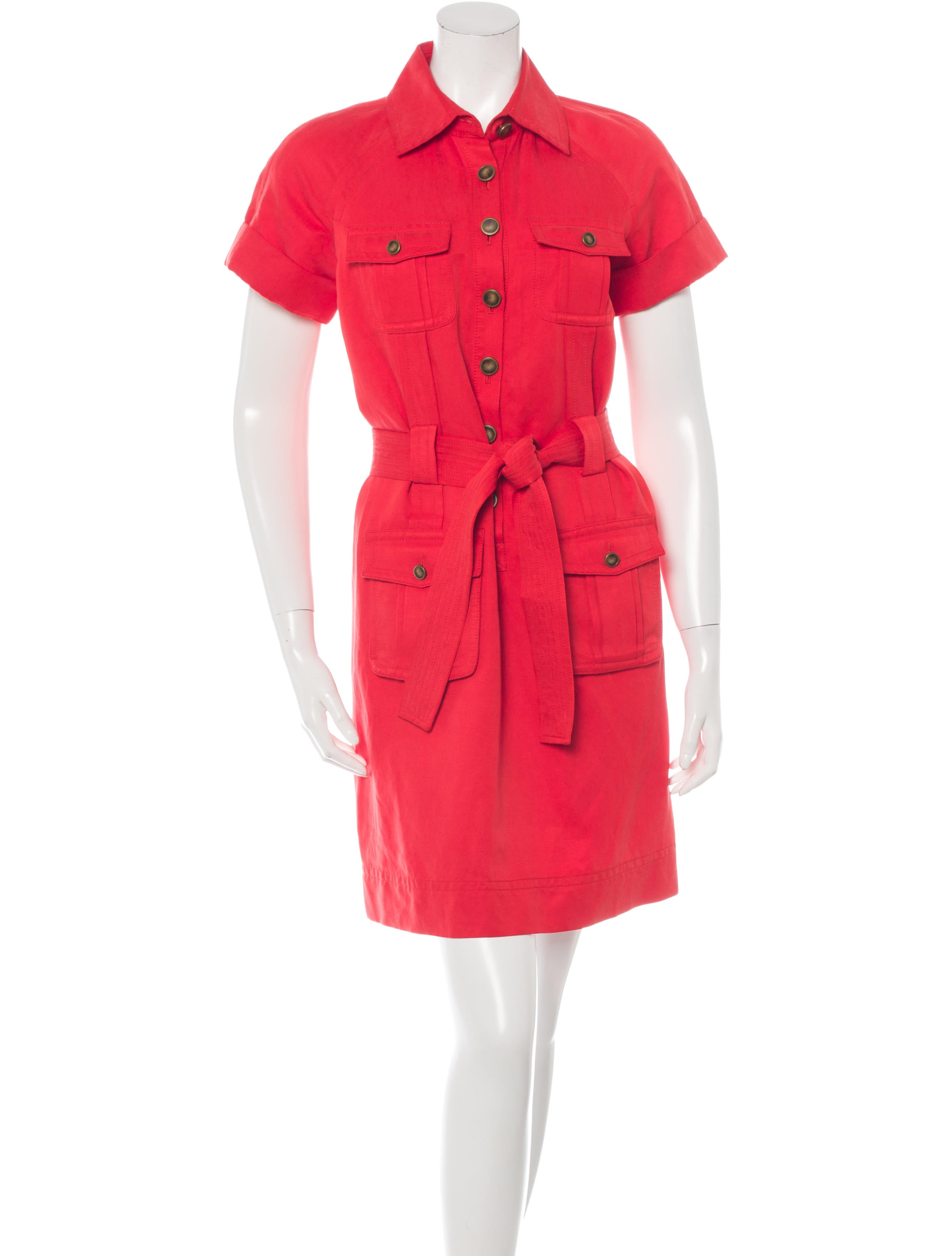 Diane Von Furstenberg Bowman Shirt Dress Clothing