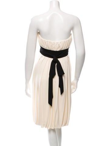 Strapless Two-Tone Dress