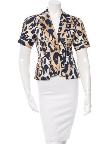 Diane von Furstenberg Tompkins Printed Jacket