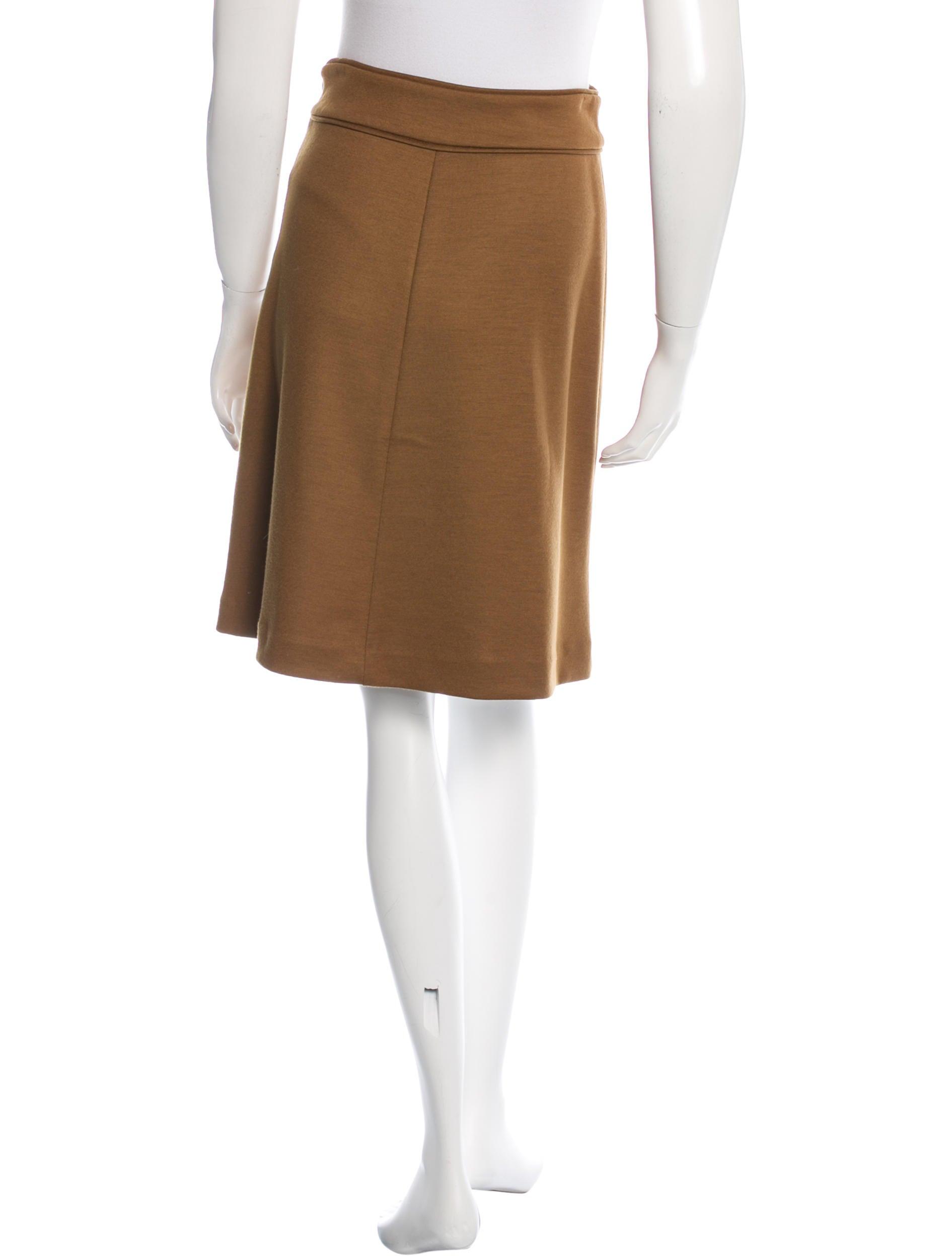 diane furstenberg wool knee length skirt clothing