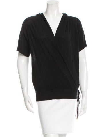 Diane von Furstenberg Knit Wrap Top None