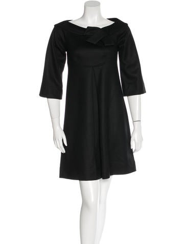 Diane von Furstenberg Wool Ochetto Mini Dress