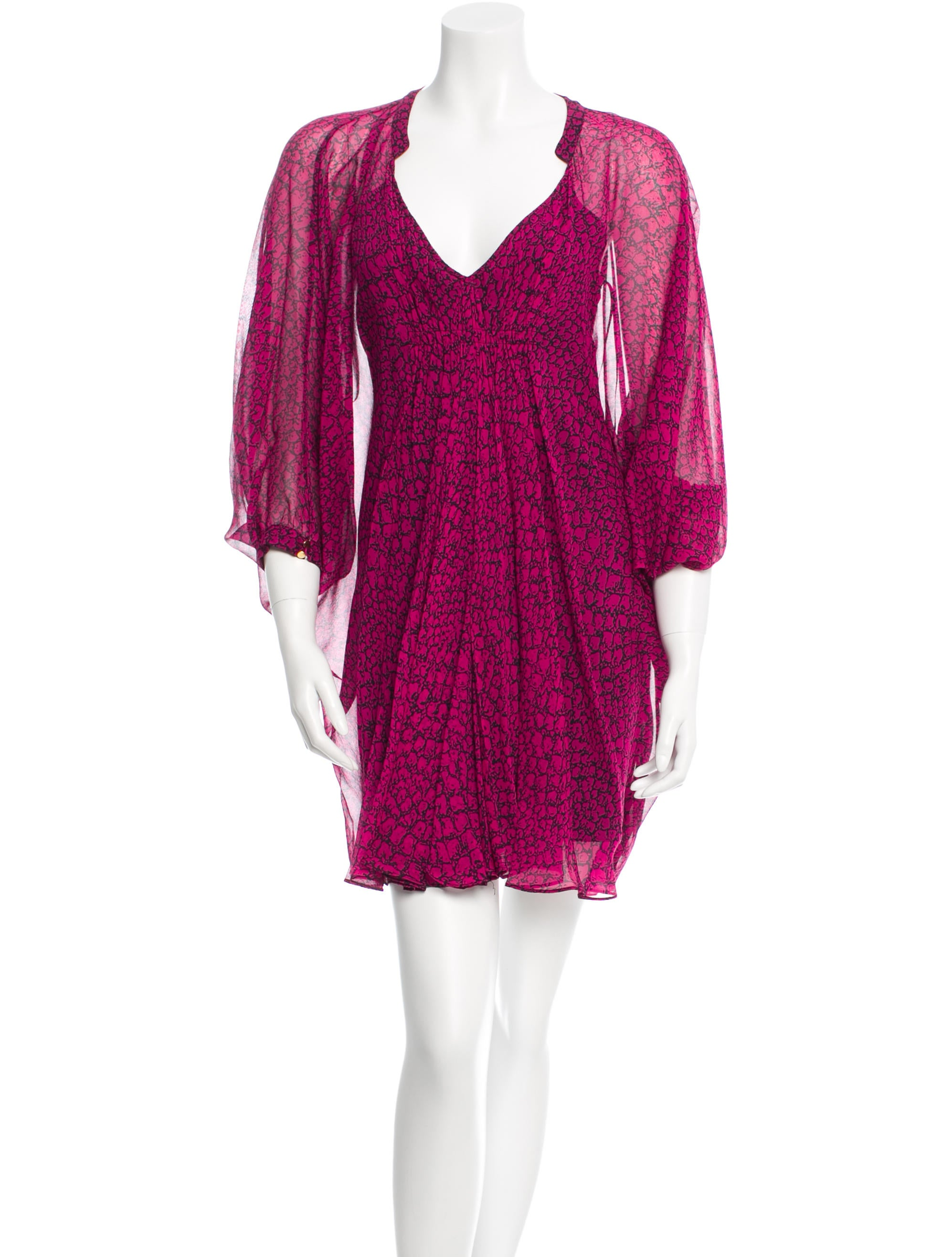 Diane Von Furstenberg Silk Fleurette Dress Clothing