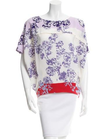 Diane von Furstenberg Silk Printed Top None