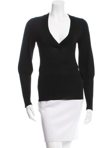Diane von Furstenberg V-Neck Wool Top None