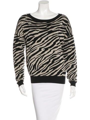Diane von Furstenberg Zebra Patterned Sweater None
