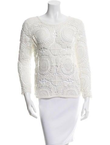 Diane von Furstenberg Crocheted Nola Top None