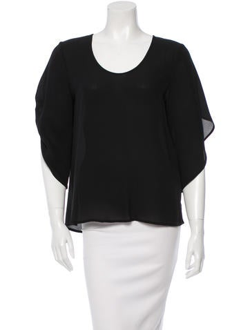 Diane von Furstenberg Silk Asymetrical Top None
