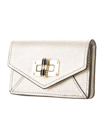 Logo Metallic Card Holder