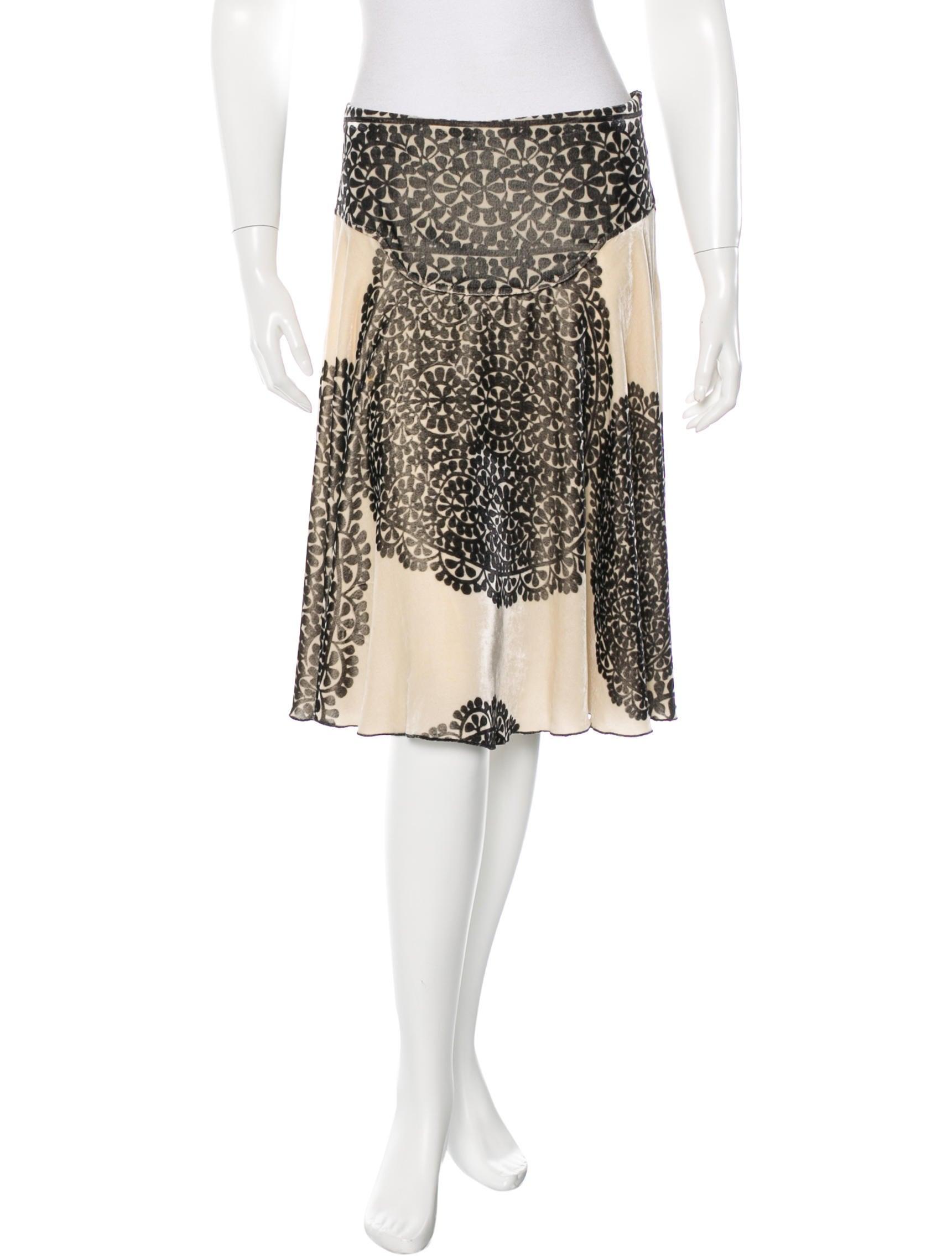 diane furstenberg velvet a line skirt clothing