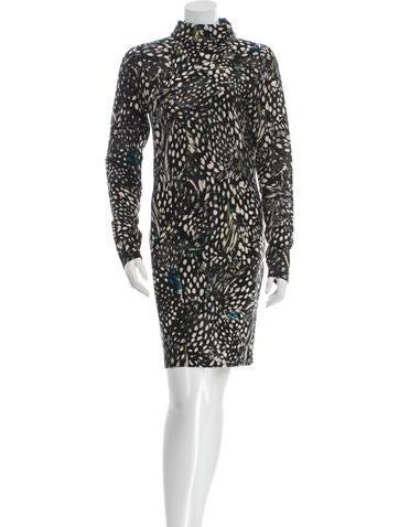 Diane von Furstenberg Printed Turtleneck Dress None
