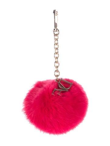 Diane von Furstenberg Fur Pom-Pom Keychain None