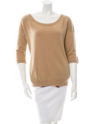 Diane von Furstenberg Cashmere Scoop Neck Sweater None