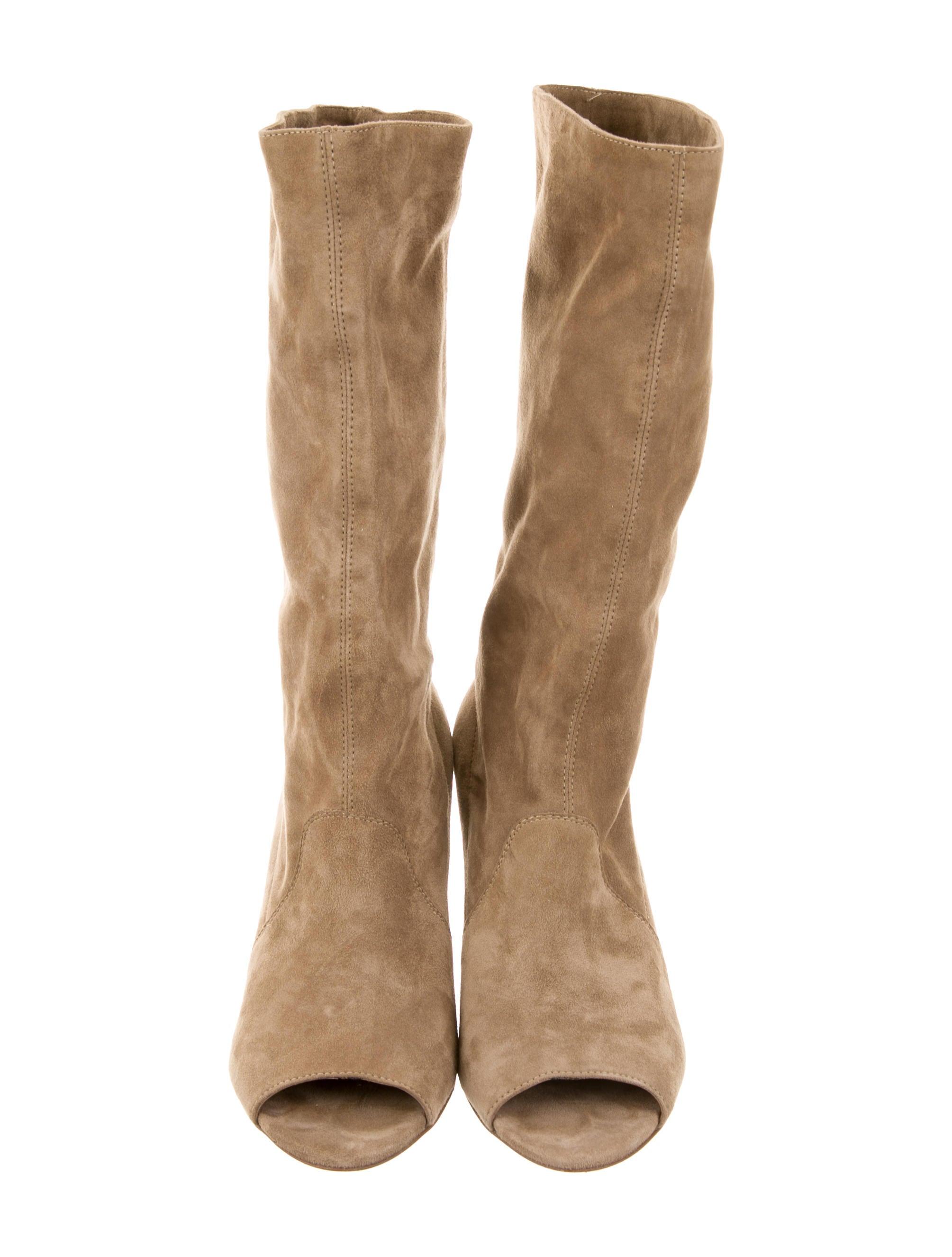 diane furstenberg suede weaver boots shoes